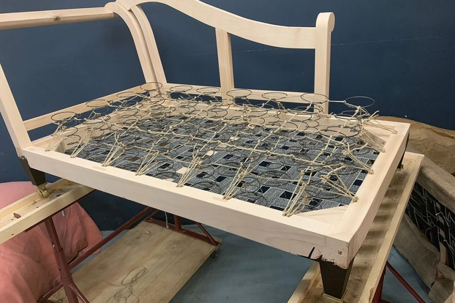 Daybed in progress