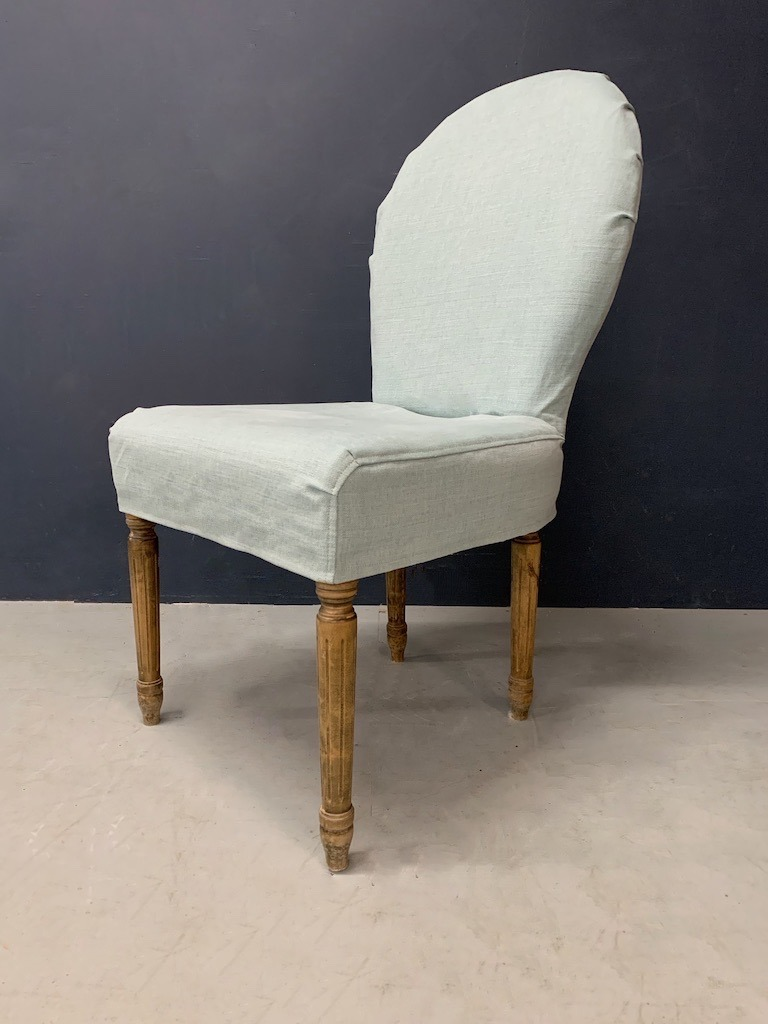 Oka Chair Loose Cover in Blue